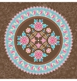 Ornamental round lace vector image vector image