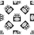 pack of beer bottles icon seamless pattern vector image vector image