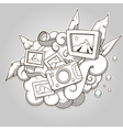 photo abstraction colorless vector image vector image