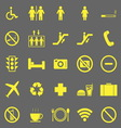 Plublic yellow icons on gray background vector image vector image