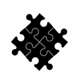 Puzzle constructor vector image vector image