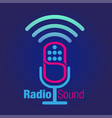 radio sound vector image