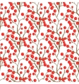 Red berry pattern Autumn seamless background for vector image