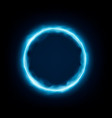 round frame with glowing and light neon vector image vector image
