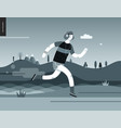 runners - guy exercising vector image vector image