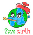 save earth cartoon design style vector image vector image