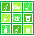 Set of 9 icons of garden instruments vector image vector image