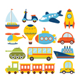 Set of cartoon transport Transportation theme vector image vector image