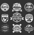 set of outdoor adventure labels emblems vector image