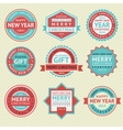 Set stickers for Christmas cards vector image vector image