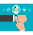 Smart wristwatch application for health vector image vector image