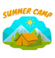 summer camp tent vector image