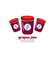 template logo for grapes jam vector image vector image
