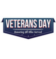 veterans day banner design vector image