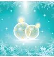 winter holiday of christmas balls vector image vector image