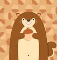 cute big fat squirrel vector image