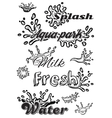 set template with elements of the water for vector image