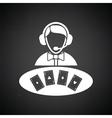 Casino dealer icon vector image