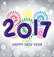 2017 Happy New Year greeting card vector image vector image