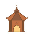 antique architecture isolated icon vector image