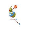 avocado basketball player funny exotic fruit vector image