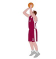 basketball player shooting free throw vector image vector image