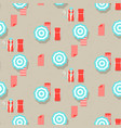 beach umbrellas top view seamless pattern vector image