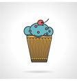 Berry muffin flat icon vector image vector image