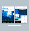blue flyer template layout design corporate vector image vector image