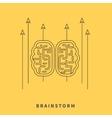 Brainstorm Design Flat Concept vector image vector image