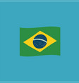 brazil flag icon in flat design vector image