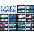 bundel of corporate business card template vector image