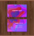 business card template with colorful abstract vector image vector image