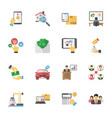 business plans flat icons vector image vector image