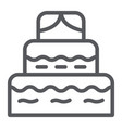 cake line icon food and sweets dessert sign vector image vector image