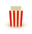 carton bowl empty of popcorn icon vector image vector image