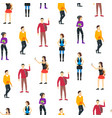 cartoon street clothes characters people concept vector image
