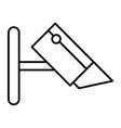 cctv camera thin line icon security camera vector image