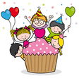 Celebrating birthday party vector image