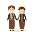 central java indonesia wedding couple invitation vector image vector image