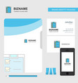 checklist business logo file cover visiting card vector image vector image