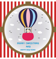Christmas greeting card52 vector image