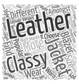 Classy Leather Jackets and Blazers text background vector image vector image