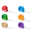 Colorful Set of Tape Measure Icons vector image vector image
