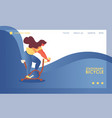 concept gym banner or landing page template vector image vector image