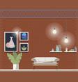 cozy comfortable coworking room interior design vector image vector image