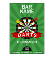 darts tournament poster vector image