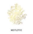 decorative golden mistletoe vector image vector image