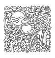 design aroma tea on white background vector image