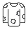 dirty laundry line icon laundry and clothes vector image vector image